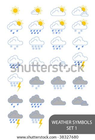 weather symbols wind. stock vector : Weather Symbols