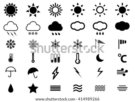 weather vector burst icon set