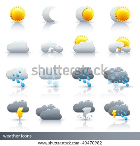 Weather Vector Icon Set - Meteorology