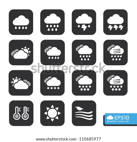 weather web icons set vector