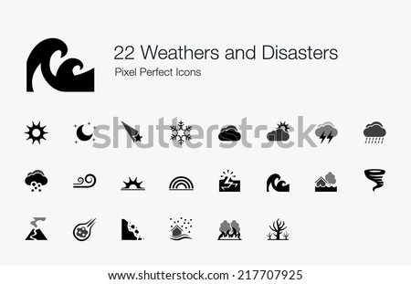 Weathers and Disasters Pixel Perfect Icons
