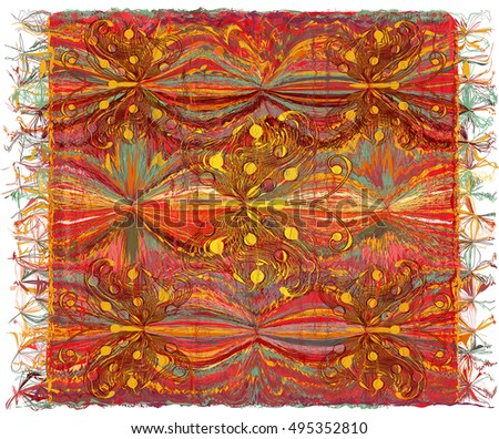 weave colorful tapestry with