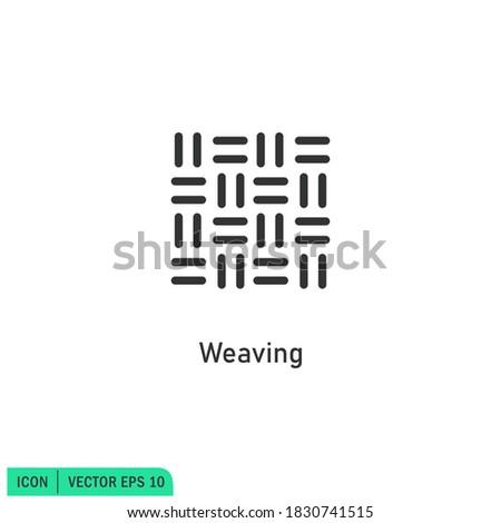 weaving icon illustration simple design element vector logo template Stock foto ©