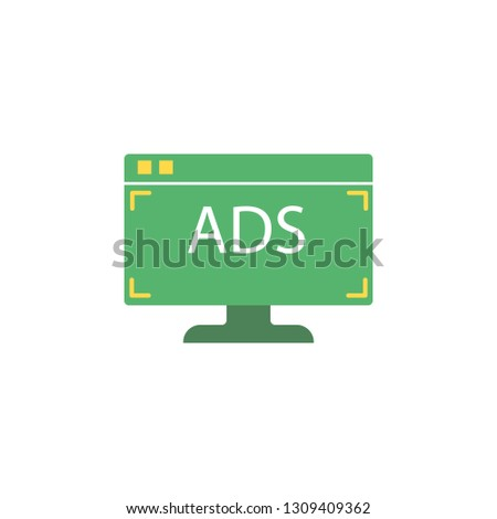 Web advertising icon. Element of Ad icon for mobile concept and web apps. Detailed Web advertising icon can be used for web and mobile