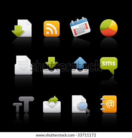 Web and Internet Icon Set for multiple applications. In Adobe Illustrator EPS 8.