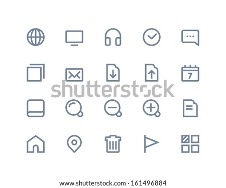 web and internet icons line