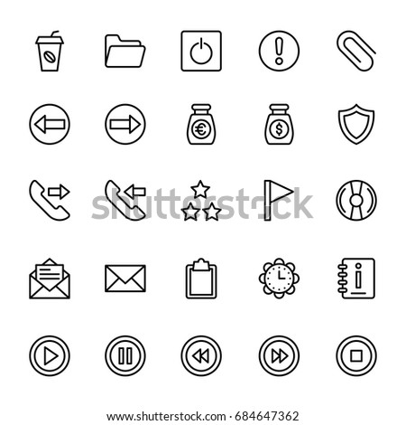 Web and Mobile UI Line Vector Icons 7