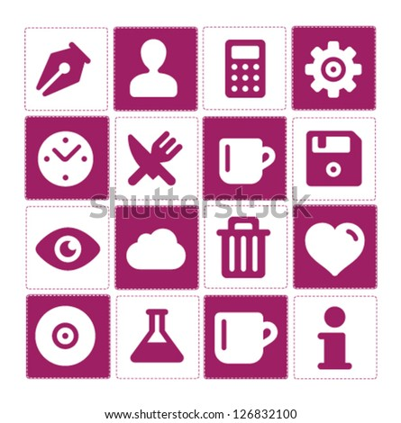 Web and simple technology pictograms set isolated