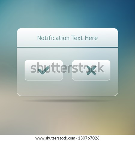 Web and UI Notification Message Window. Vector illustration.