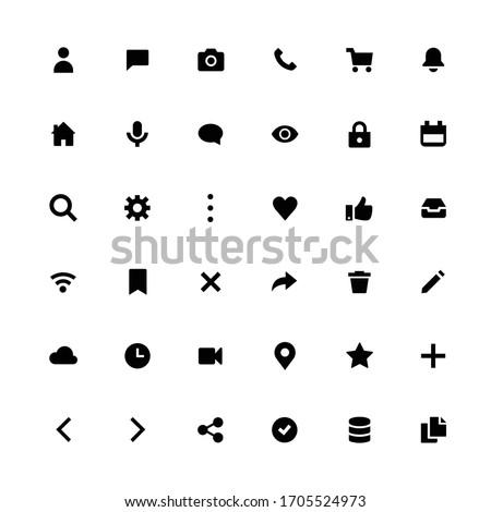 Web, application icon vector pack Zdjęcia stock ©