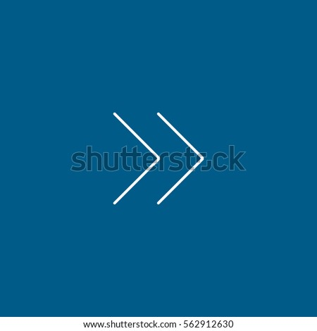 Web Arrow Forward Line Icon On Blue Background