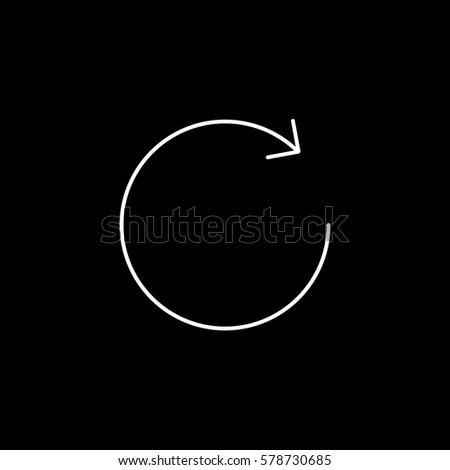 Web Arrow Line Icon On Black Background