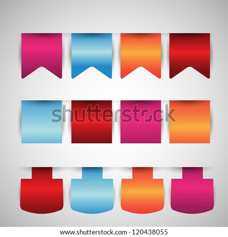 web badges ribbon tags