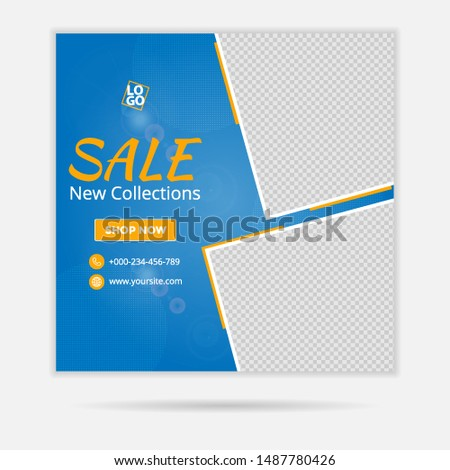 Web banner and social media ads design for fashion sale, can also be used for travel ads and other ads