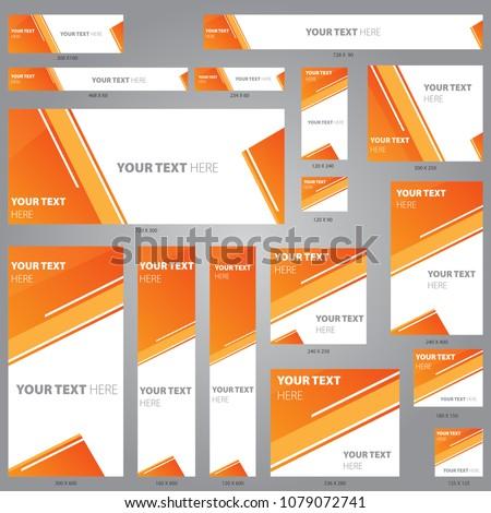 Web Banner Design Template Vector Set  #1079072741