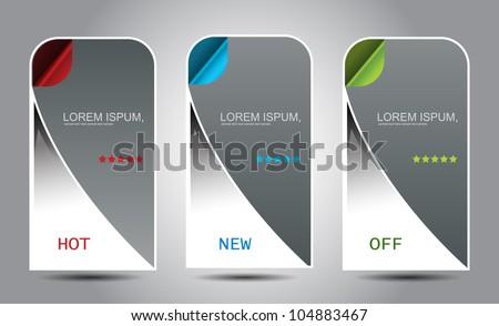 web banner elements design