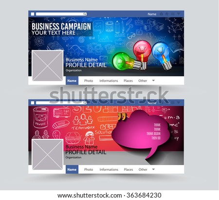Web Banner for Social Media Advertising business campaign banners with space for your slogan,images and text.