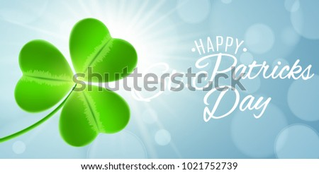 web banner for st patrick's day