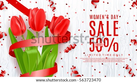 web banner for women's day sale