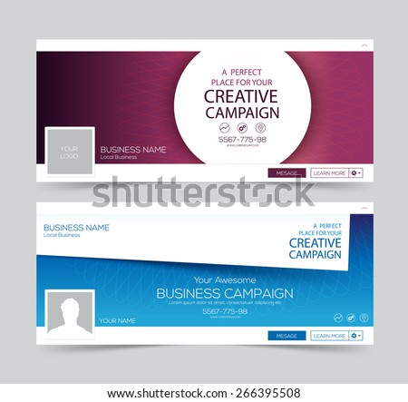 Web Banner, Header Layout Template. Creative cover. Web Banner.