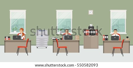 web banner of three office