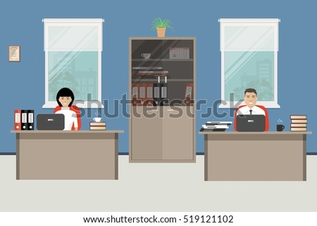 web banner of two office