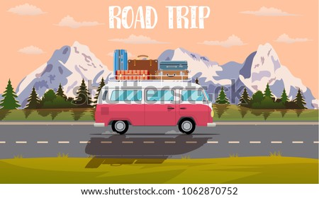 web banner on the theme of road ...