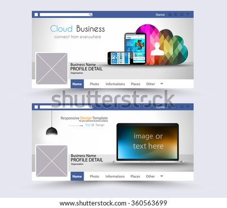 Web Banner or Website Header for page or diary covers. Social Media Advertising business campaign banners with space for your slogan,images and text.