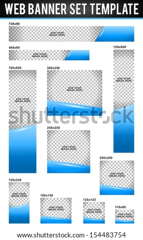 web banner set template in vector format