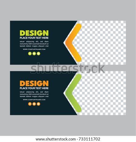 Web Banner Template. facebook banner. Simple poster design. Gift cart, sale voucher. Vector illustration