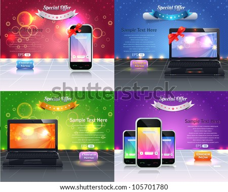 Web Banner Template Vector Design