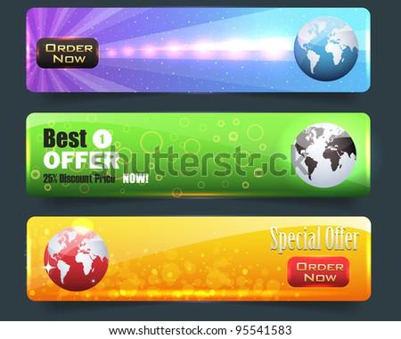 Web banner vector set - stock vector