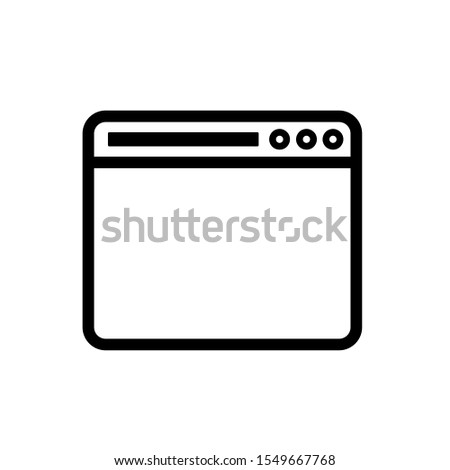 Web browser icon,vector illustration. Flat design style. vector web browser icon illustration isolated on White background, web browser icon Eps10. web browser icons graphic design vector symbols.