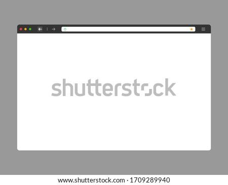 web browser mockup in dark