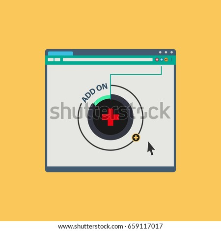 Web browser plugin. Vector illustration concept.