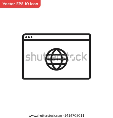 Web browser, web surfing vector icon