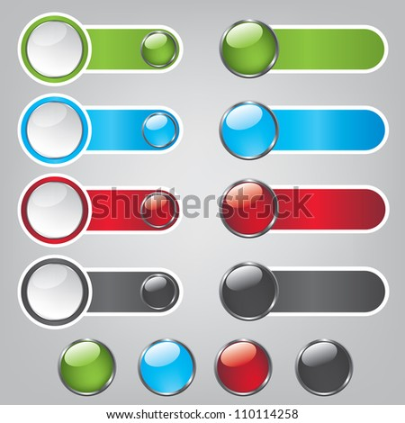 Web bubble icons - stock vector