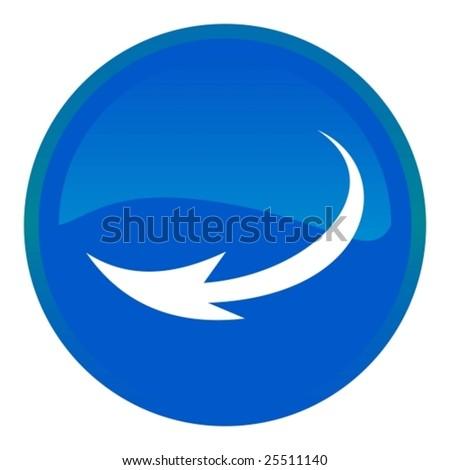 Web button - arrow - stock vector