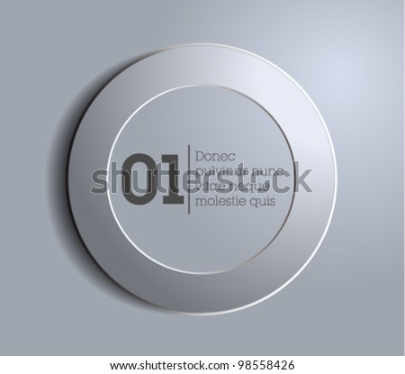 web button / circle frame / speech bubble / gray