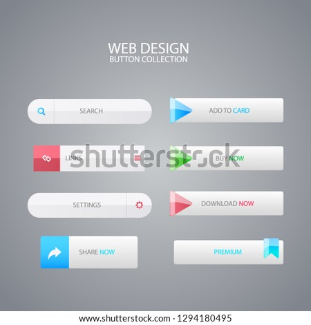 Web Button Collection. vector