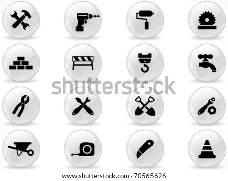 Web buttons, Construction symbol