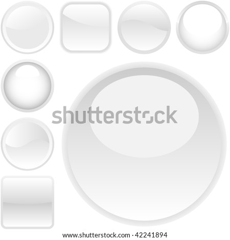 Web buttons for design. Vector set. - stock vector