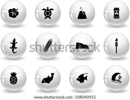 web buttons  hawaii icons