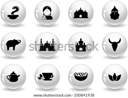 Web buttons, indian icons