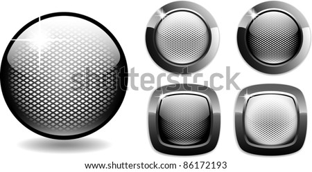 web buttons net style glossy metal easy to edit