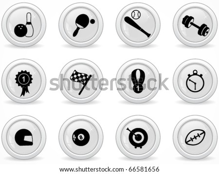 Web buttons, sport icons