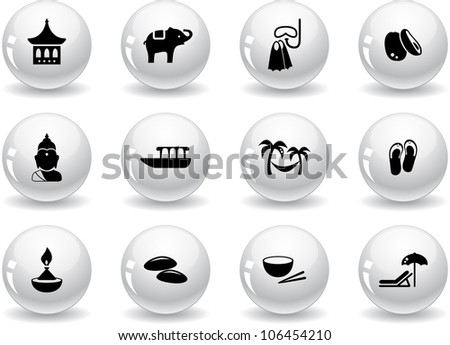 Web buttons, thai icons