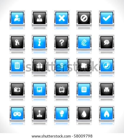 Web buttons. Vector.