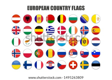 web buttons with european