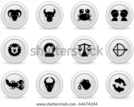 Web buttons, zodiac sign
